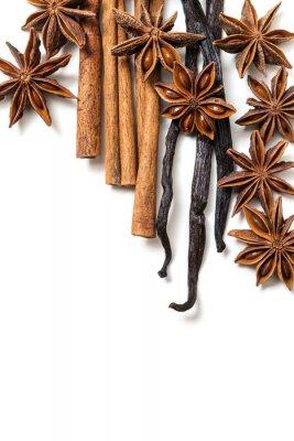 Quadro Anice stellato, cannella e vaniglia baccelli