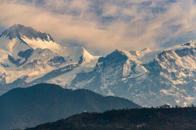 Quadro Annapurna gamma all'alba
