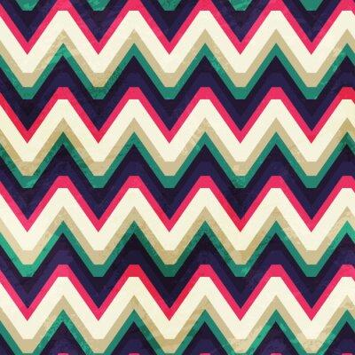 Quadro annata zigzag seamless con effetto grunge