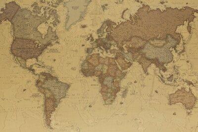 Quadro Antica mappa del mondo