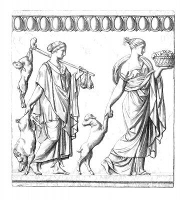 Quadro Antichità: donne romane