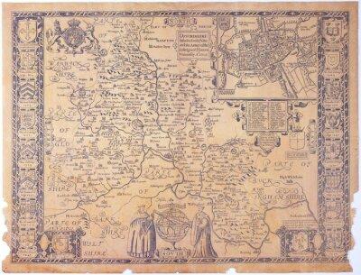 Quadro Antique Oxfordshire mappa