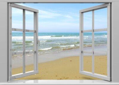 Quadro Apri finestra al Summertime - 3D