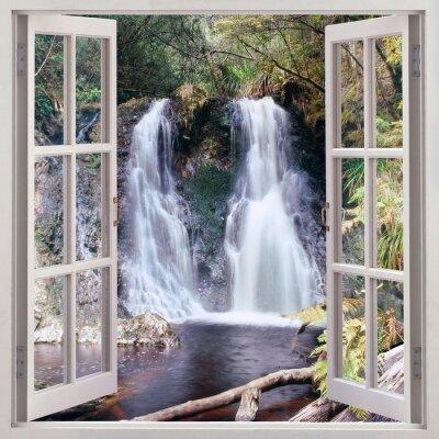 Quadro Aprire la finestra al fine di Hogarth Falls, Tasmania