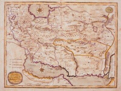 Quadro Arabic vecchia mappa