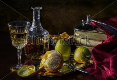 Quadro Arance, pere e albicocche secche
