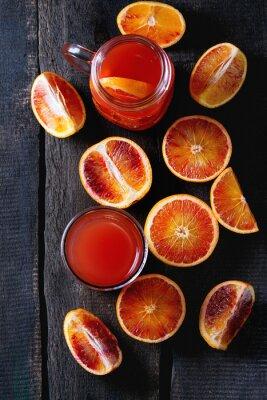 Quadro arance rosse con succo