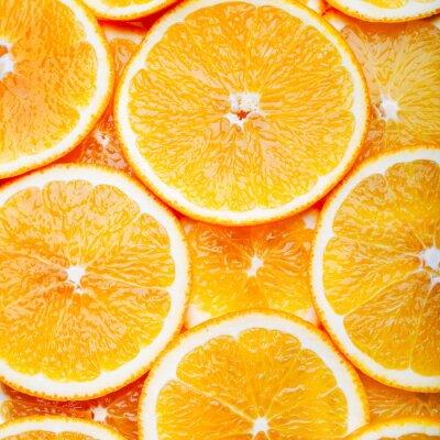 Quadro Arancione fette di sfondo