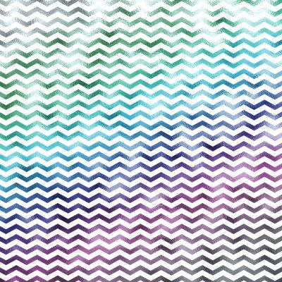 Quadro Arcobaleno bianco metallico Faux Foil Chevron pattern Galloni trama