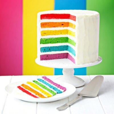 Quadro Arcobaleno torta a strati