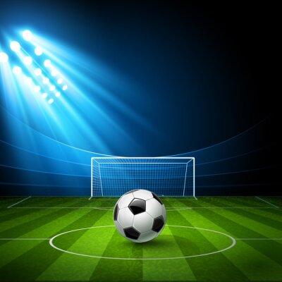 Quadro Arena di calcio con un pallone da calcio. Vettore