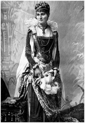 Quadro Aristocratica Lady (19 ° secolo) con Wears 16 ° secolo