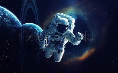 Quadro Arte cosmica, carta da parati di fantascienza. Bellezza dello spazio profondo. Miliardi di galassie nell'universo. Elementi di questa immagine forniti dalla NASA