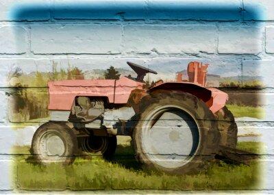 Quadro Arte di strada, tracteur agricole