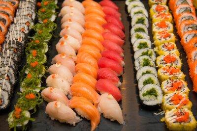 Quadro Assorted sushi giapponese