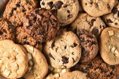 Quadro Assortiti cookie primo piano
