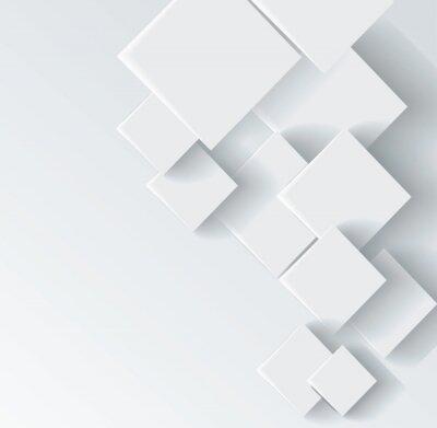 Quadro Astratta forma geometrica da rombi grigio
