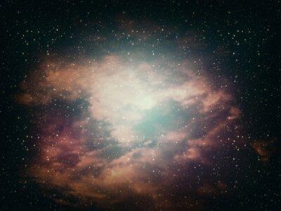Quadro Astrattiva Space Background