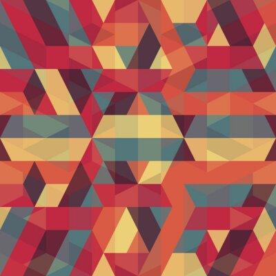 Quadro astratto modello retrò geometrico