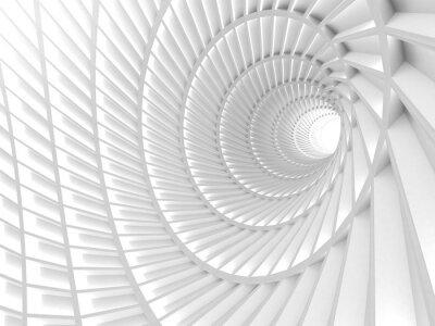 Quadro Astratto Sfondo bianco tunnel buco