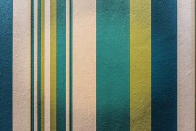 Quadro Astratto sfondo colorato d'epoca con motivo a strisce sul muro