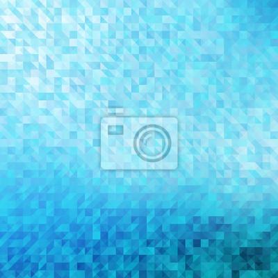 Astratto Sfondo Geometrico Blu Dipinti Da Parete Quadri Pixel