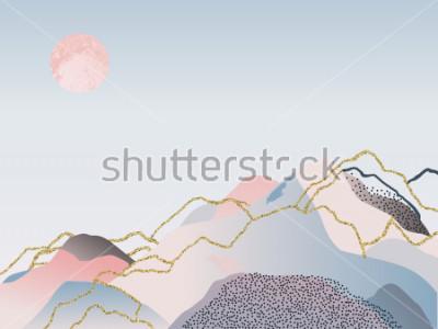 Quadro Astratto sfondo minimal design scandinavo. Illustrazione di vettore