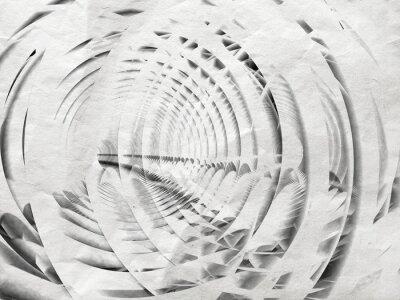 Quadro Astratto spirale bianca illustrazione