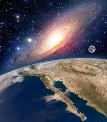 Quadro Astrologia astronomia terra grande spazio Bang stelle luna pianeta Via Lattea. Elementi di questa immagine fornita dalla NASA.