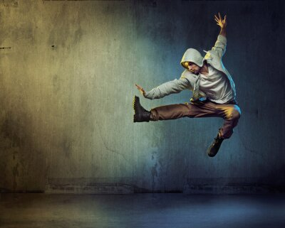 Quadro Athletic ballerina in un salto posa