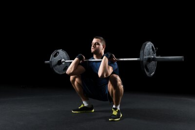 Quadro Atleta Crossfit esegue peso ascensore
