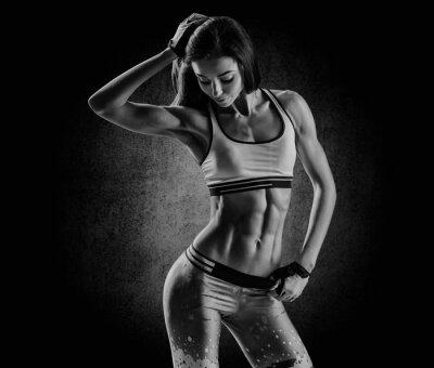 Quadro attraente donna di forma fisica, il corpo femminile allenato, stile di vita portrai