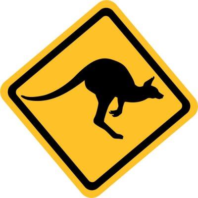 Quadro Australia canguro segno