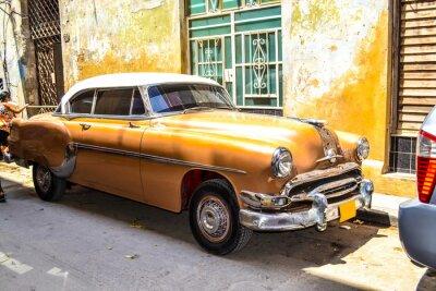 Quadro Auto americane e sovietiche 1950 - 1960 da L'Avana.