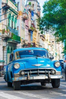 Quadro Auto d'epoca americana su una strada nel centro di L'Avana
