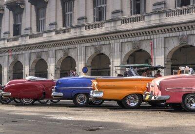 Quadro Auto d'epoca americane a L'Avana, Cuba