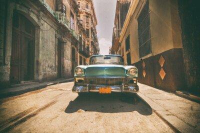 Quadro Auto d'epoca parcheggiata in strada dell'Avana