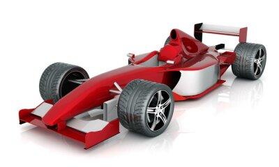 Quadro auto di immagine sportiva rossa su sfondo bianco