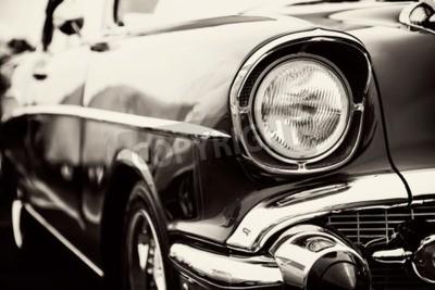 Quadro Automobile classica con il primo piano sui fari