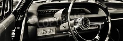 Quadro Automobile classica fotografata dal lato del driver