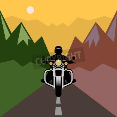 Quadro Avventura in moto, illustrazione vettoriale