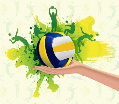 Quadro Background design Pallavolo Sport