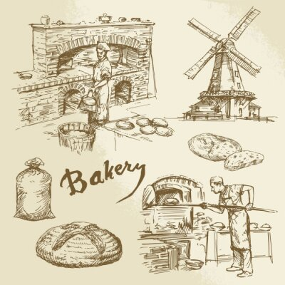 Quadro baker, bakery, bread
