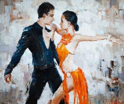 Quadro Ballerine pittura, ballerini di tango digitali