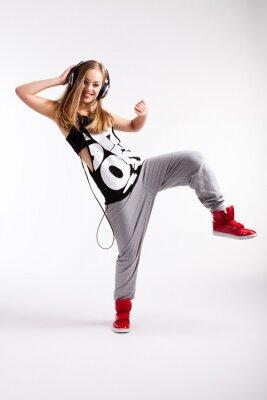 Quadro Ballerino hip-hop con le cuffie
