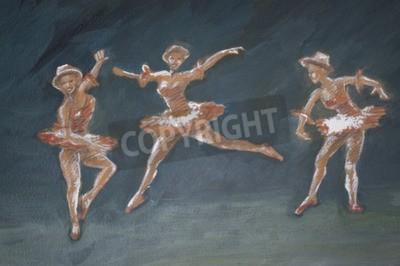 Quadro balletto classico femminile ballerini illustrazione arte