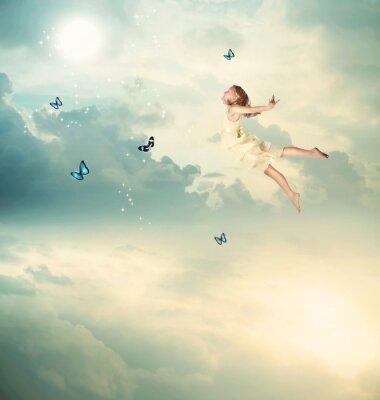 Quadro Bambina volare a Twilight