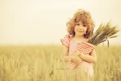Quadro Bambino felice in autunno