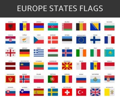 Quadro Bandiera d'Europa afferma set vettore