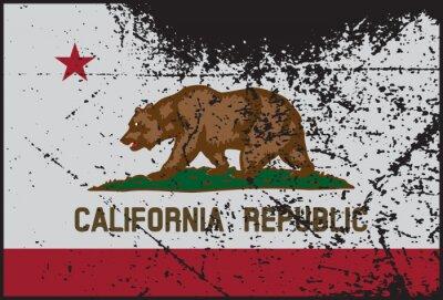 Quadro Bandiera della California Grunged